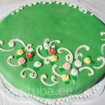 Kohupiima-martsipani tort