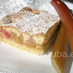 Rabarberi-õuna biskviitkook
